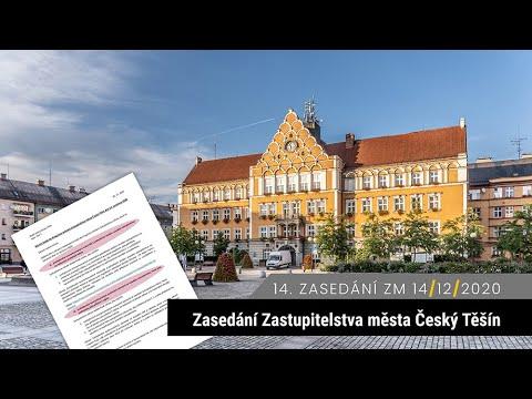 14. zasedání zastupitelstva Český Těšín 14. 12. 2020 (GDPR)
