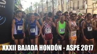 XXXII BAJADA HONDÓN - ASPE 2017