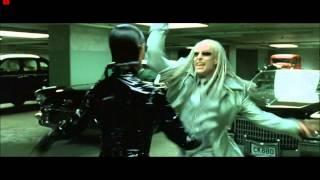 The Matrix Reloaded - Morpheus VS The Twins ( Garage Fight Scene)HD