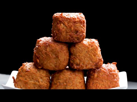 Ham and Cheese Hashbrown Cubes