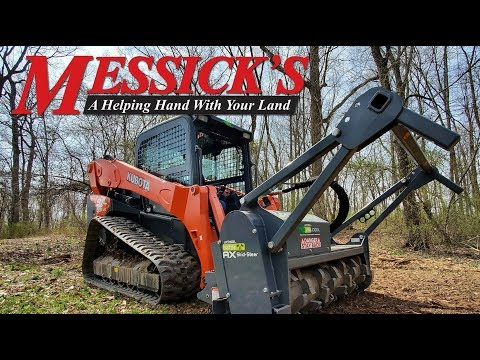 Awesome Loftness forestry mulcher on a Kubota SVL95 Picture