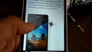 Microsoft Lumia 950 email confirmed video