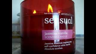 Bath and Body Works Aromatherapy Candle Review- Candle of the Week: Sensual- Jasmine Vanilla