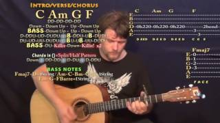 She's Got A Way With Words (Blake Shelton) Guitar Lesson Chord Chart - Capo 3rd - C Am G F