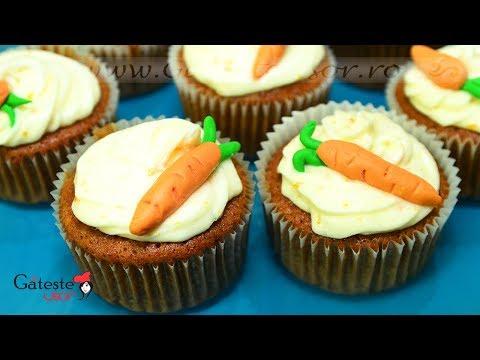 Reteta de Cupcakes cu Morcovi