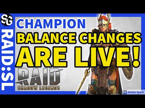 [RAID SHADOW LEGENDS] BALANCE CHANGES ARE LIVE!