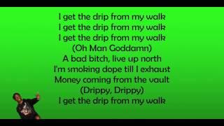 Famous Dex ft. Lil Yachty - Drip On My Walk Remix (LYRICS ON SCREEN)