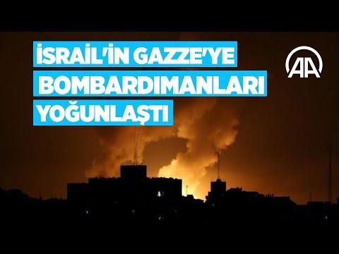 İsrail'in Gazze'ye yönelik bombardımanları yoğunlaştı