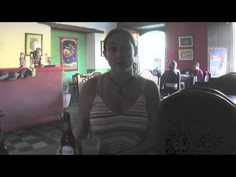 Enjoying an Ice Cold Tona Beer in Nicaragua