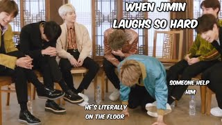 jimin laughing so hard that he disappears