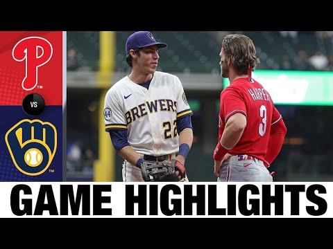 Phillies vs. Brewers Highlights (9/8/21) | MLB Highlights