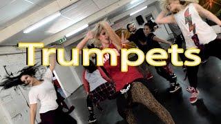 #TrumpetsChallenge | Trumpets - Sak Noel & Salvi ft. Sean Paul | Jasmine Meakin (Mega Jam)