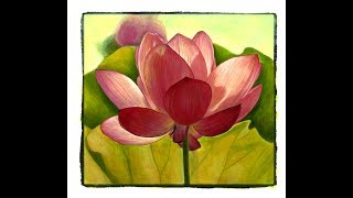Painting Grayscale with Julie Flores: the Lotus Flower from Beautiful Nature