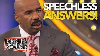 FAMILY FEUD ANSWERS That SHOCKED Steve Harvey & Left Him SPEECHLESS! Bonus Round