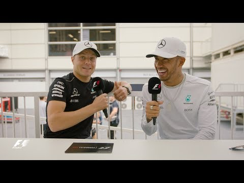 Mercedes' Lewis Hamilton & Valtteri Bottas | F1 Grill the Grid 2017