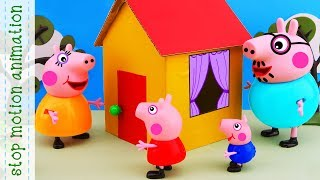 Peppa's toy house. Peppa Pig toys Stop motion animation new episodes 2018