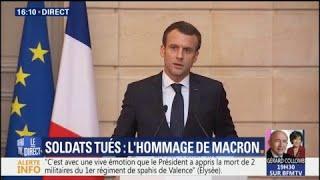 Soldats français tués au Mali : Macron témoigne du plein soutien de la nation à leurs familles