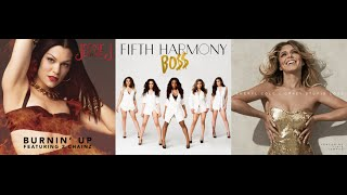Jessie J vs. Fifth Harmony vs. Cheryl Cole - Burnin' Up vs. BO$$ vs. Crazy Stupid Love (Mashup)