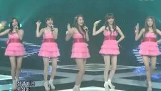 Hong Jin Young, Seeya, Davichi, T-ara - Love battery Remix ver @ SBS Inkigayo 인기가요 090705