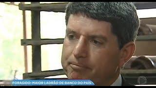 Maior ladrão de bancos do Brasil nos anos 1990 está foragido
