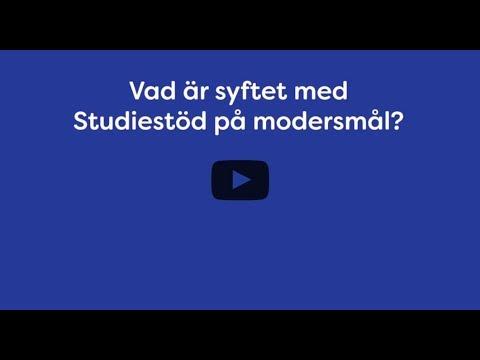Syftet med Studiestöd på modersmål