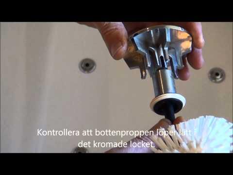 Rengör popup ventil för ett Svedbergs badkar | Svedbergs service