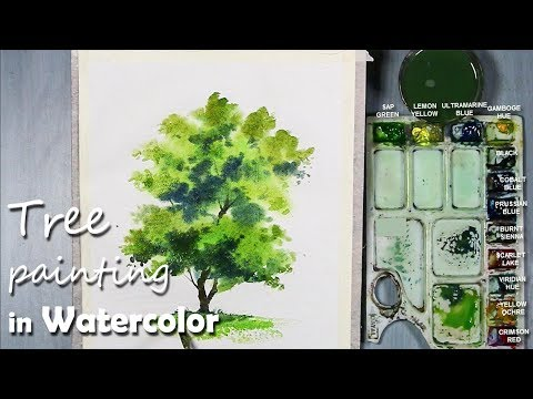 How to Paint A Tree with Watercolor | Episode-4