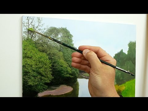 How To Paint Tall Trees | Oil Painting Tutorial