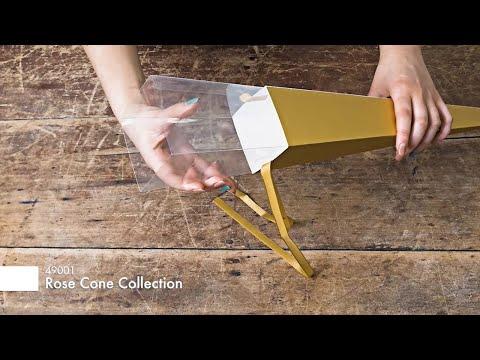 Accetate Premium Flat Pack Rose Cone Kraft (7x65cmH) Pack 6