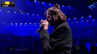Salvador Sobral imitates the sounds of the trumpet   Сальвадор Собрал имитирует звуки трубы