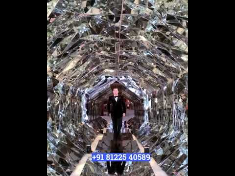 Mirror Entry Pathway Passage Tunnel Entrance Wedding Decoration New Concept  +91 81225 40589
