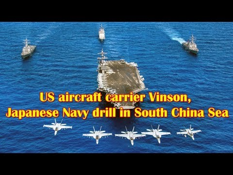 US Navy Aircraft Carriers are Training in the South China Sea with Japan