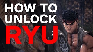 Monster Hunter World - How to Unlock Ryu From Street Fighter