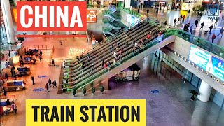 HUGE train station in China | Nanjing Shanghai