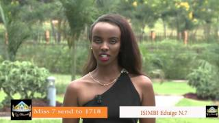 Isimbi Eduige invites you to Miss Rwanda 2016 Grand Finale