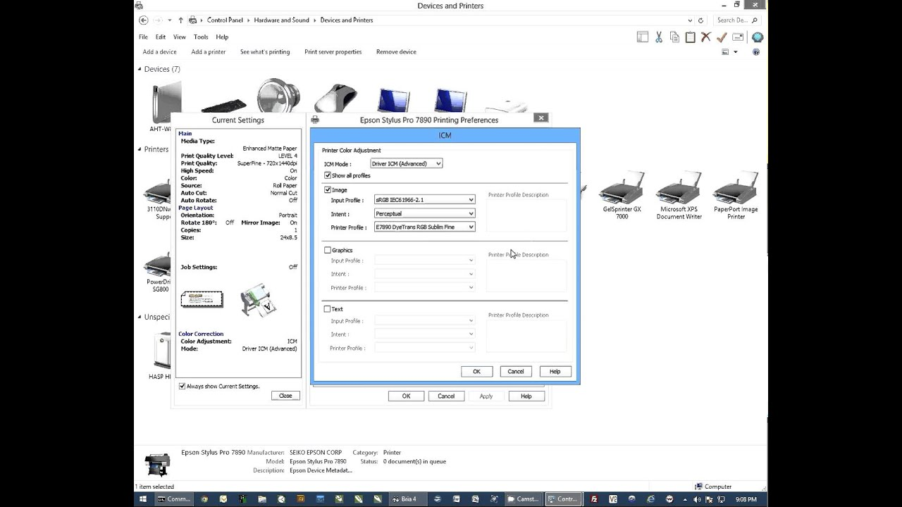Sublimation Printer Epson® SureColor F6200 44 inch