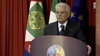 Mattarella interviene all'Istituto Nazionale di Geofisica e Vulcanologia (INGV)