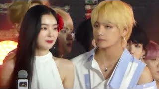 Taehyung & Irene cute moments   BTSVELVET   SBS Super Concerts in Taipei   width=