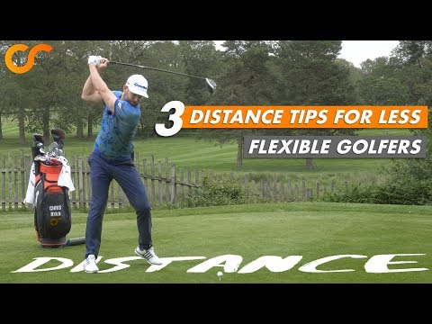 3 DISTANCE TIPS FOR LESS FLEXIBLE GOLFERS