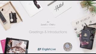 Group Lesson Example – Level 1 – A1 – Greetings and Introductions