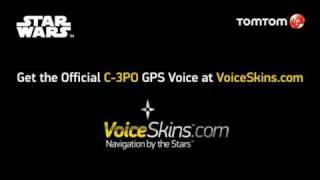 Official Star Wars C-3PO Celebrity GPS VoiceSkins on TomTom Demo