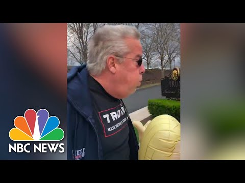 Video Shows Trump Supporter Breathing On Senior Citizens Outside Trump National Golf Club | NBC News