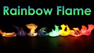 Rainbow Flame! Coloured Fire Experiment!