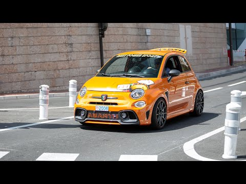 CRAZY Modified Abarth 595 Competizione Terrorizing the Streets of Monaco !