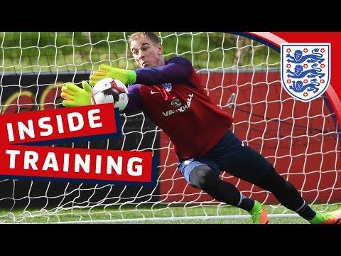 Goalkeeper reaction training with Hart, Forster & Heaton   Inside Training