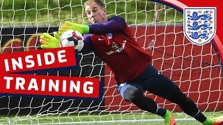 Goalkeeper reaction training with Hart, Forster & Heaton | Inside Training