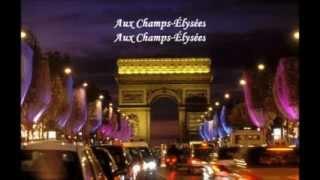 Joe Dassin, Aux Champs-Élysées, with lyrics