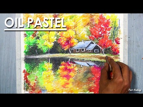 Colors of the Autumn | Beautiful Oil Pastel Drawing step by step Art video