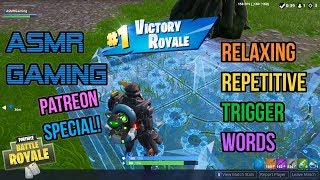 ASMR Gaming | Fortnite Very Relaxing Repetitive Trigger Words 🎮🎧Controller Sounds + Whispering😴💤