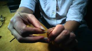 How to use a burr cup and how to file wire ends for jewelry making.